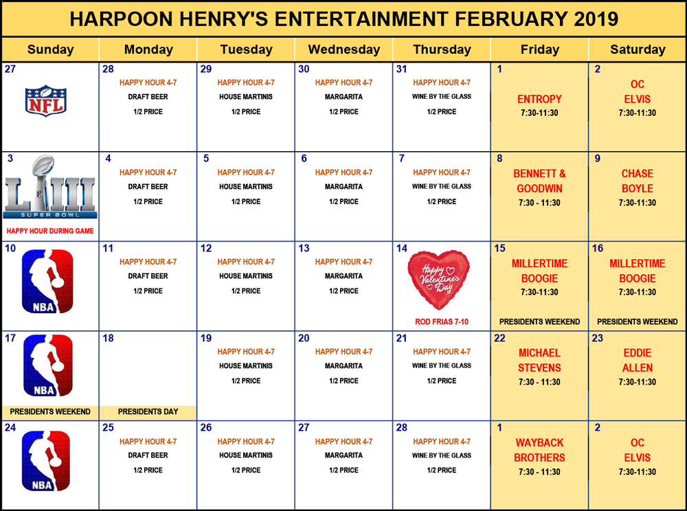 ENTERTAINMENT-2019-Calendar-feb
